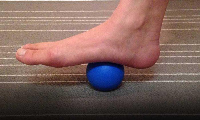 Massage being rolled under foot