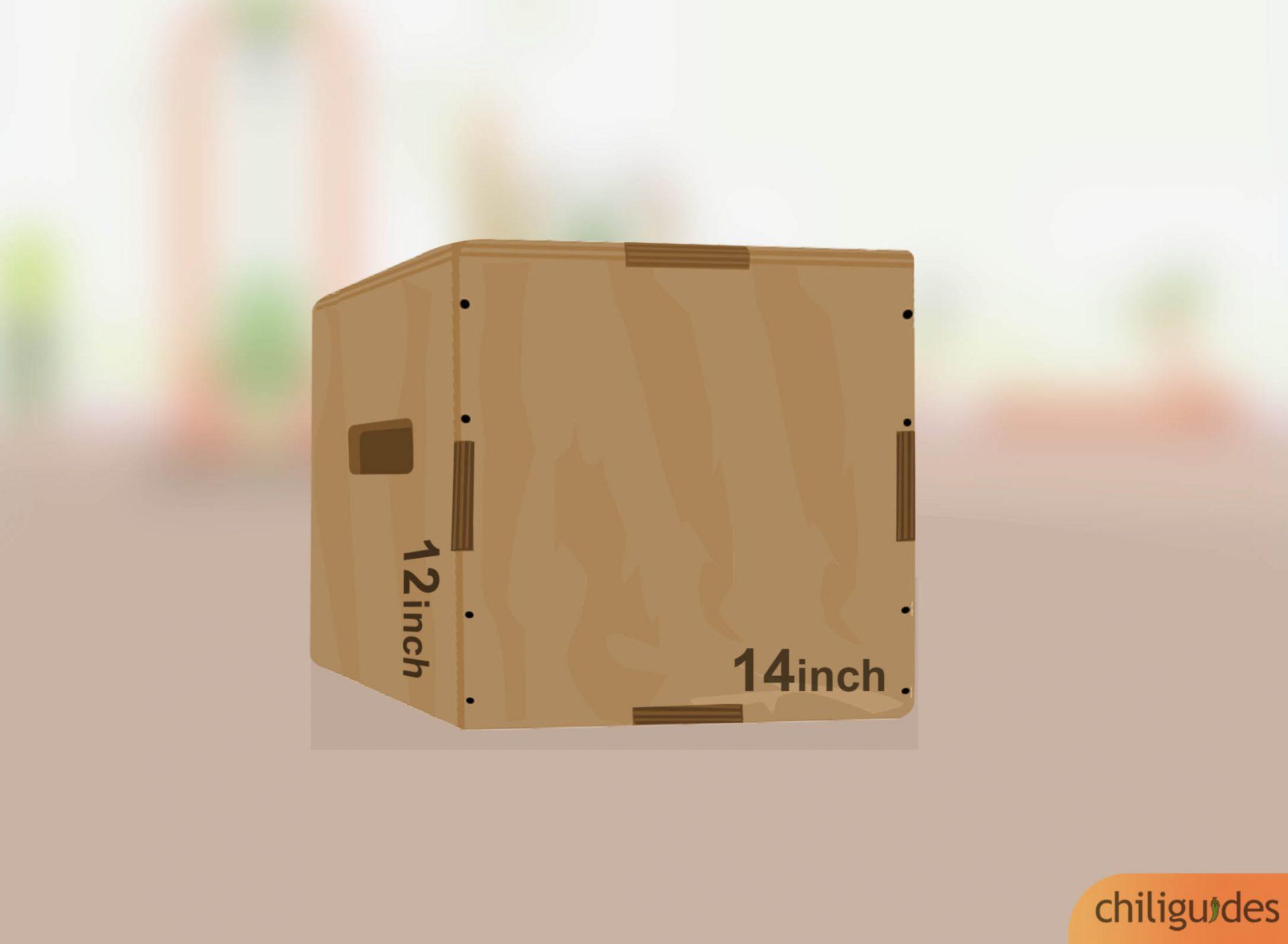 Height adjustable plyo box