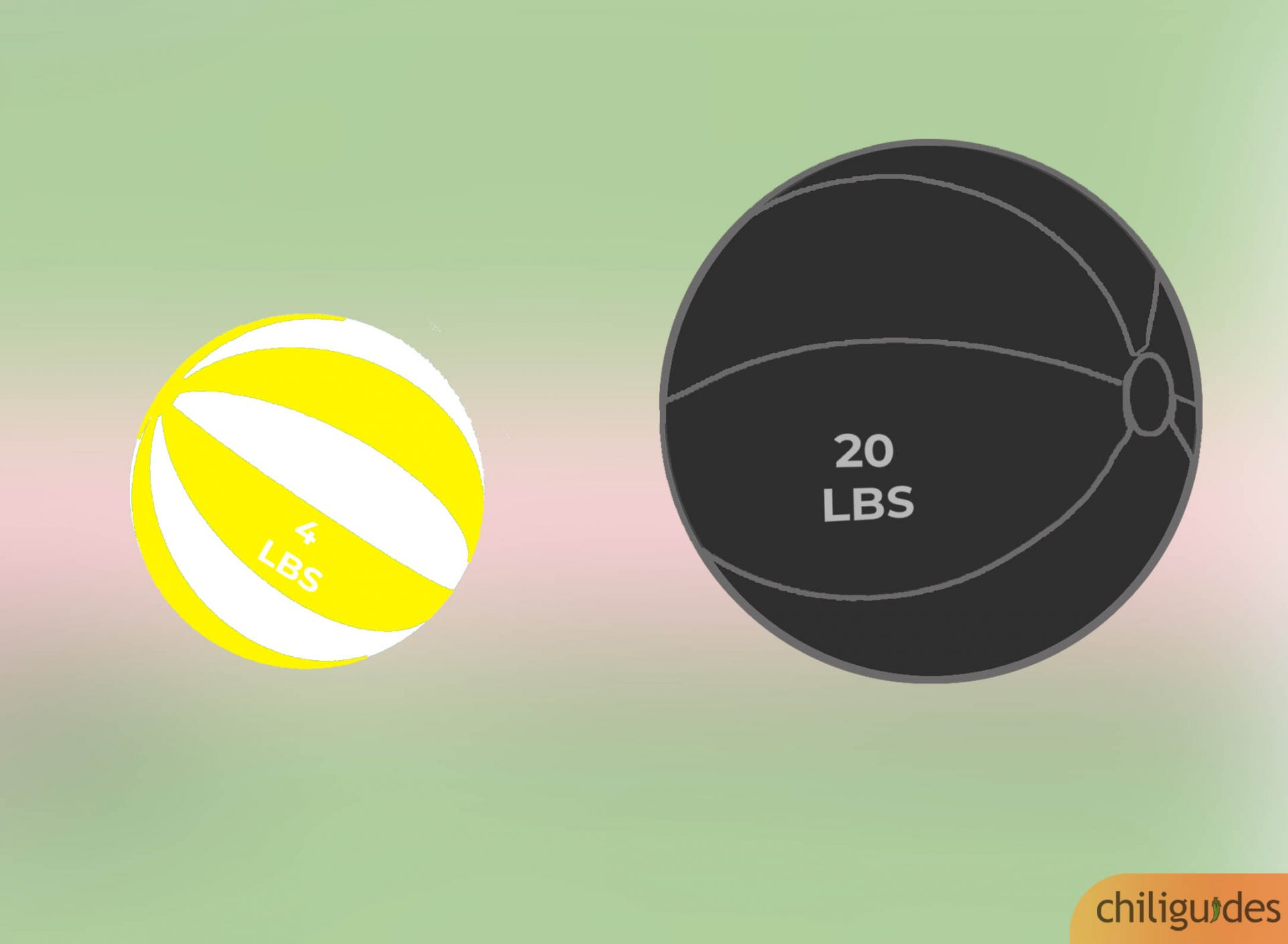 Pick a heavyweight ball for strength, and a lightweight ball for endurance.