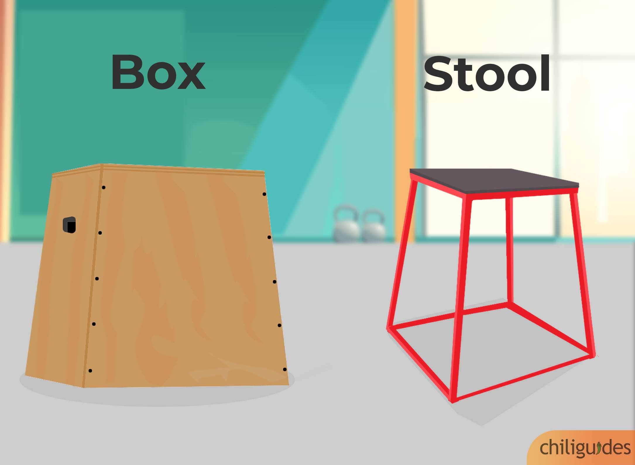 Buy a box, not a stool.