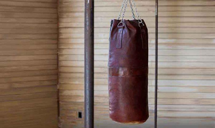 Brown heavy bag