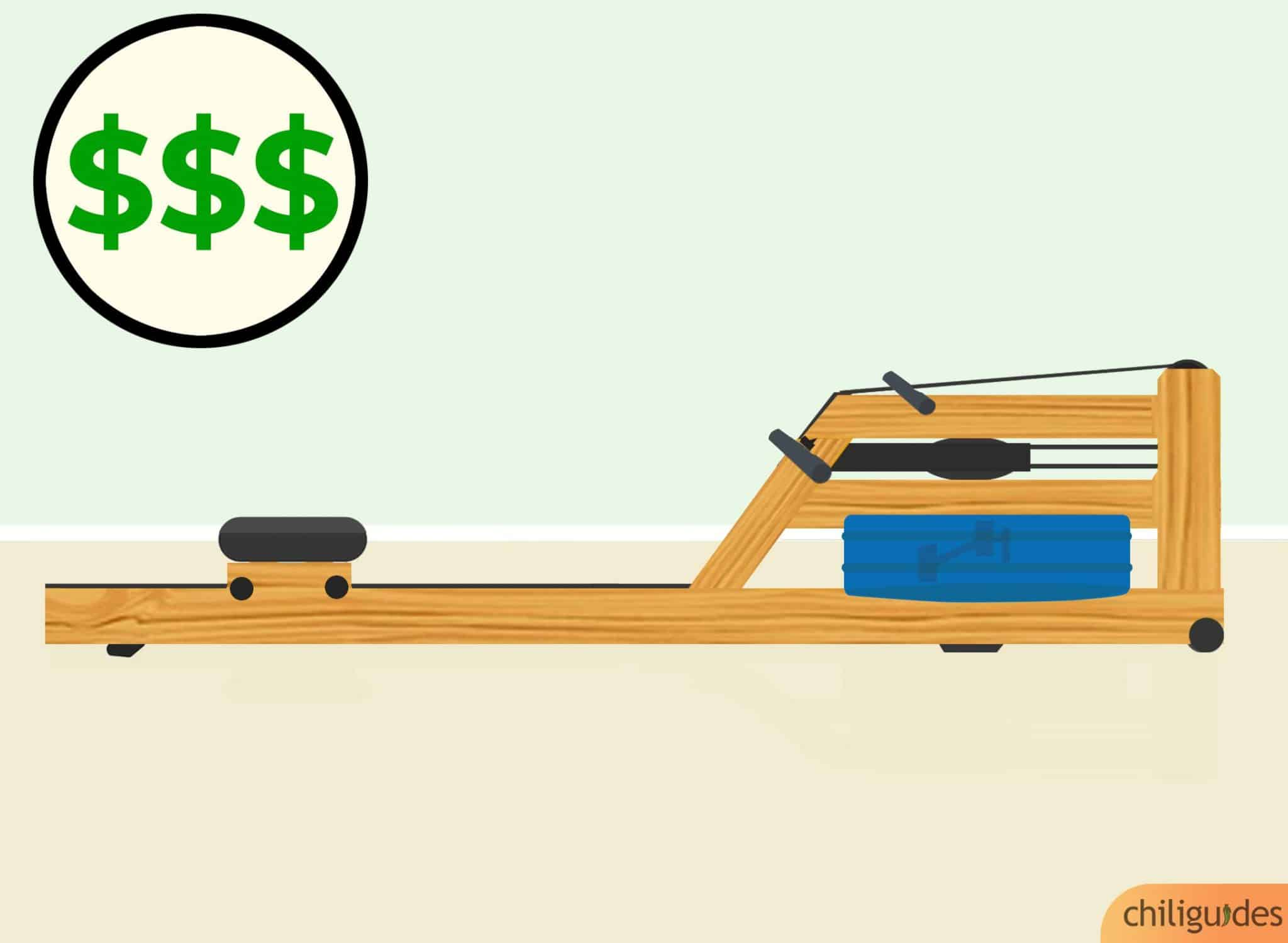 Consider your budget because rowing machines are expensive.