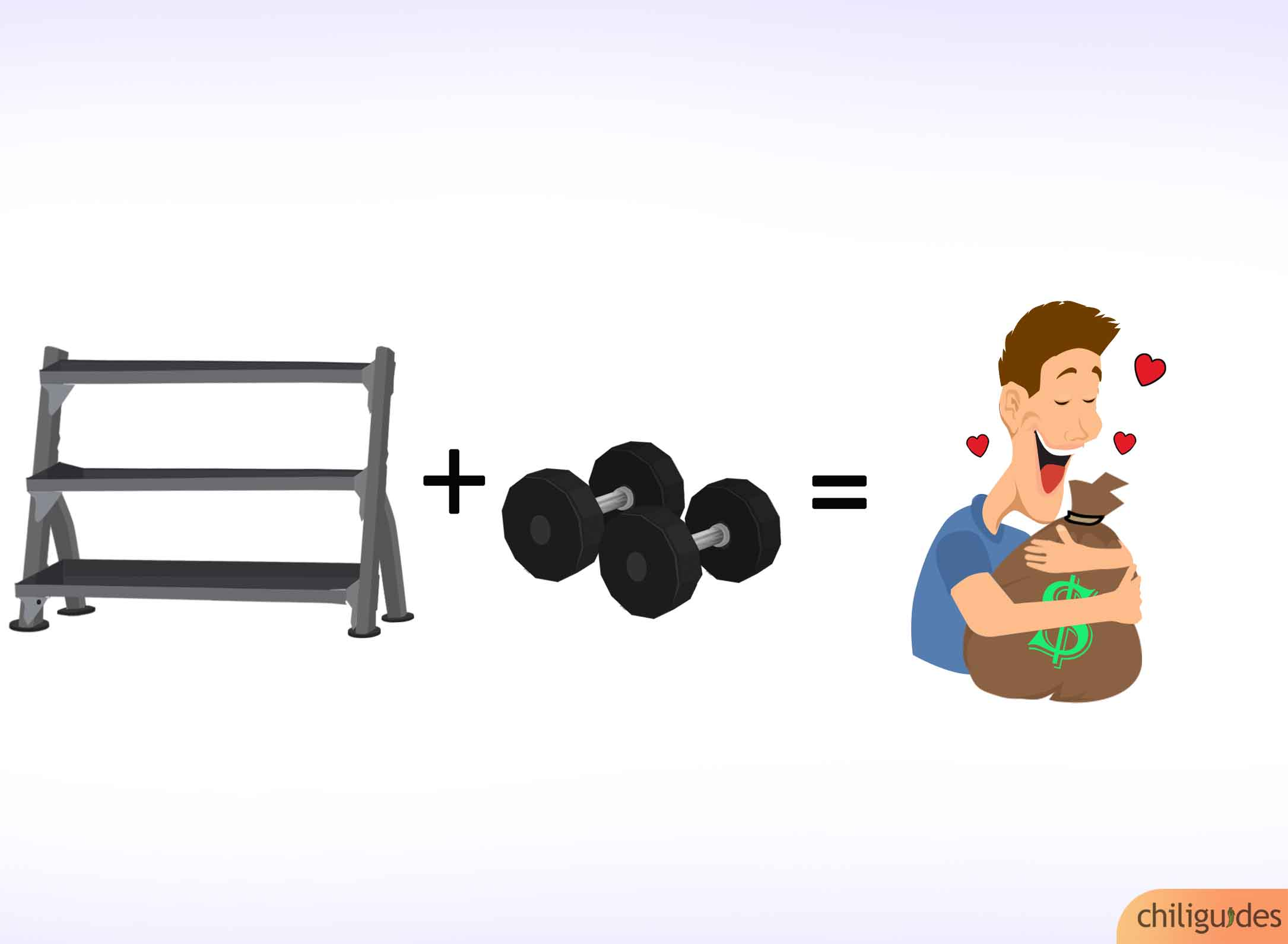 <p><b>Buy dumbbells along with the dumbbell rack to save money.</b></p>