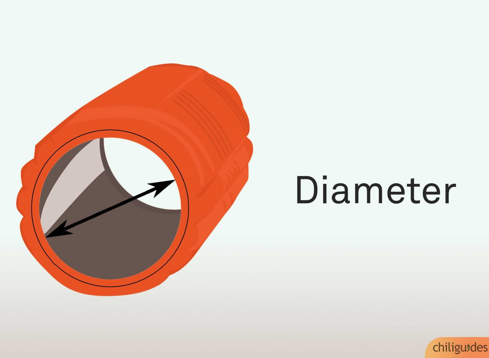 Choose the diameter based on the muscle group you want to work.