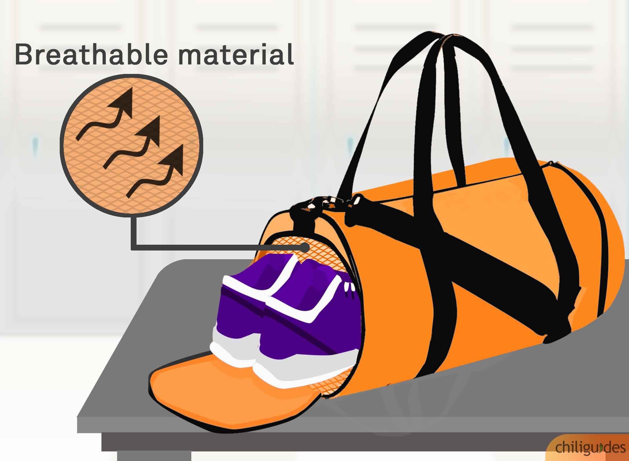 <p><b>Look for mesh or other breathable materials to keep away bad smells.</b></p>