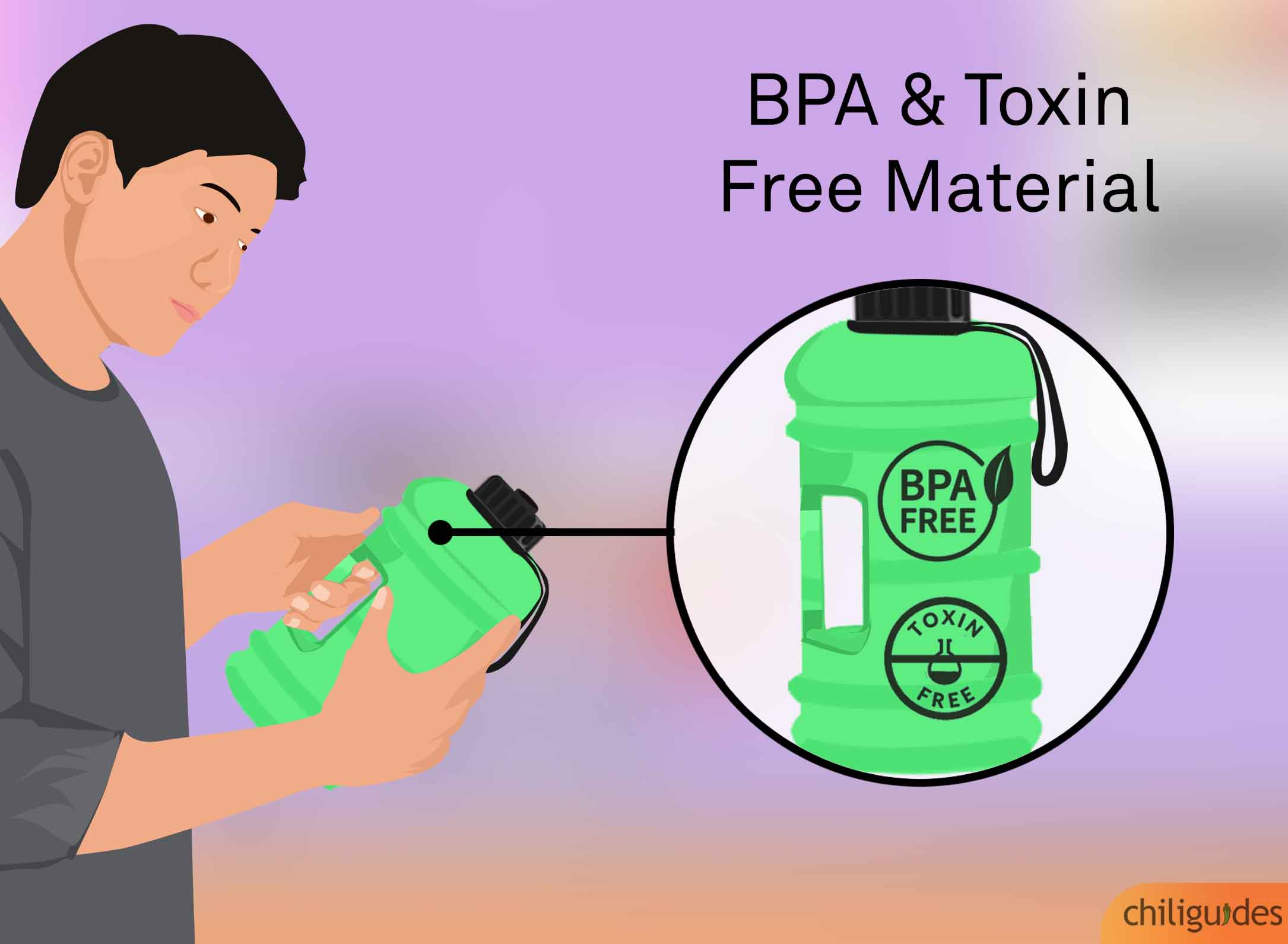 <p><b>Choose BPA free plastic. </b></p>