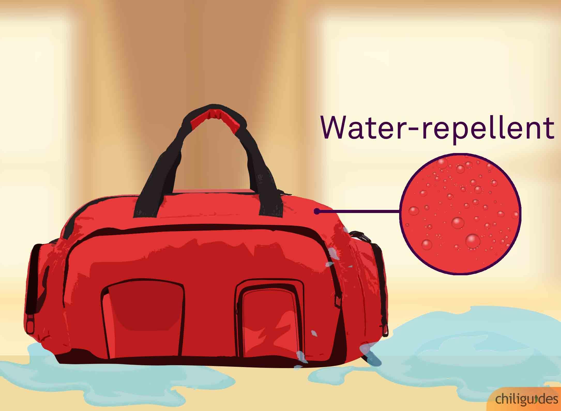<p><b>The bag must be water-repellent.</b></p>
