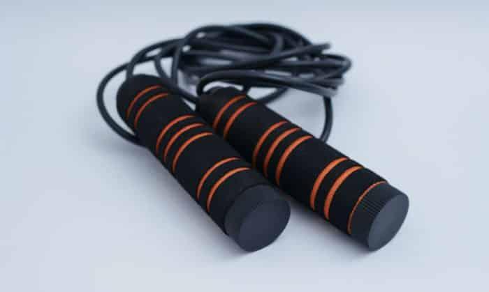 Black and orange jump rope