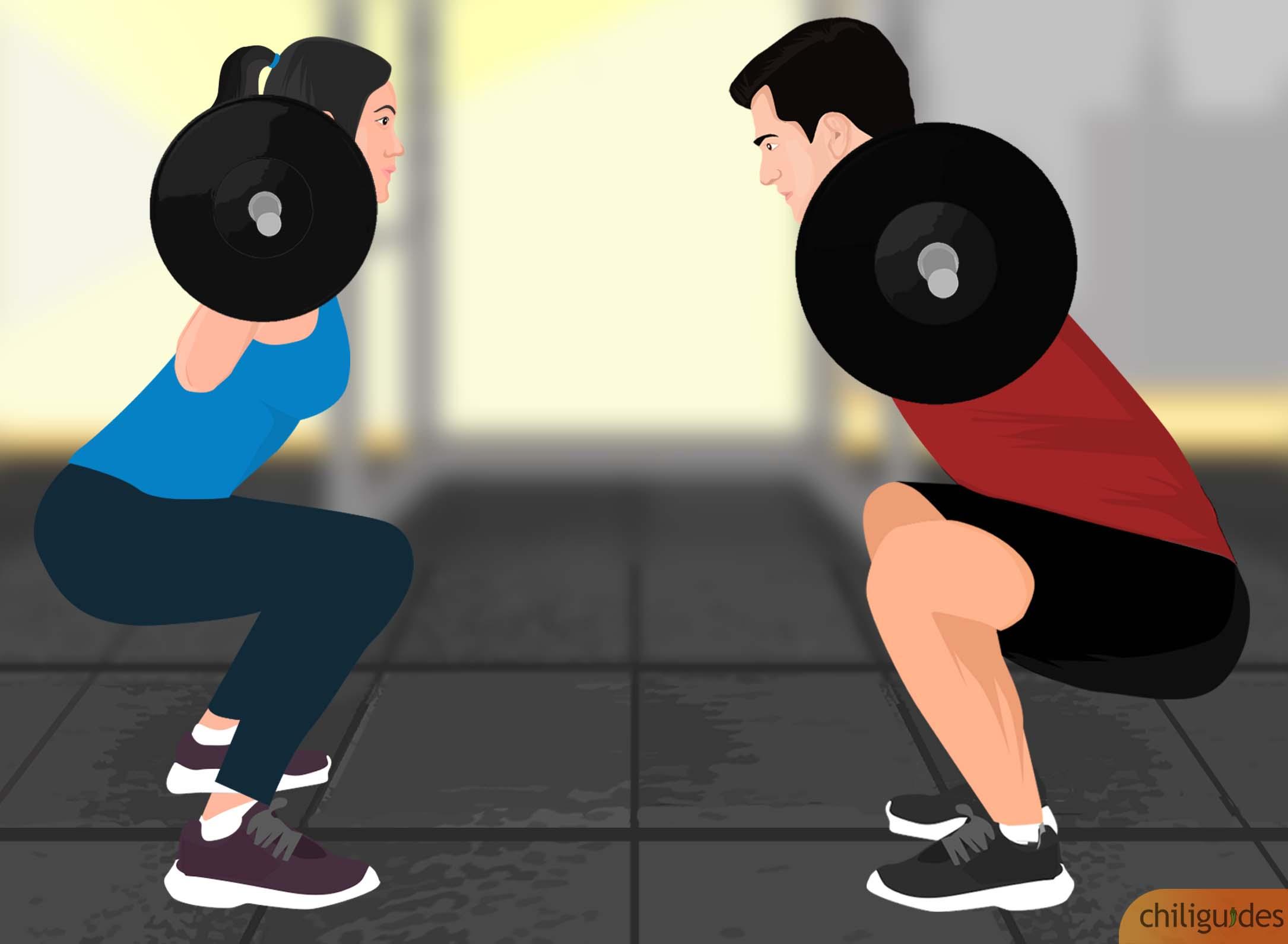 <p><b>Men's vs. Women's barbells</b></p>