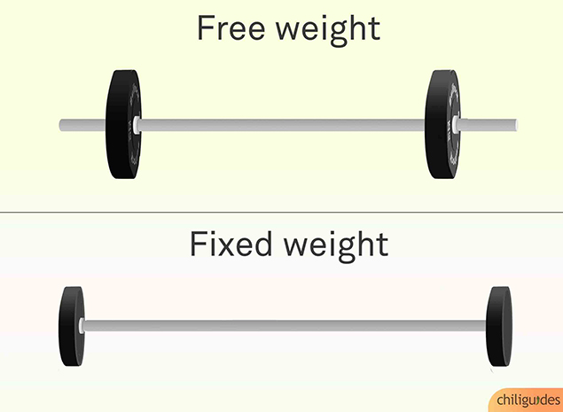 Fixed weight barbells are only practical for commercial use.