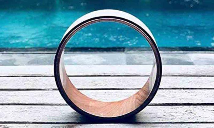 GPB 2 Wooden Yoga wheel brown