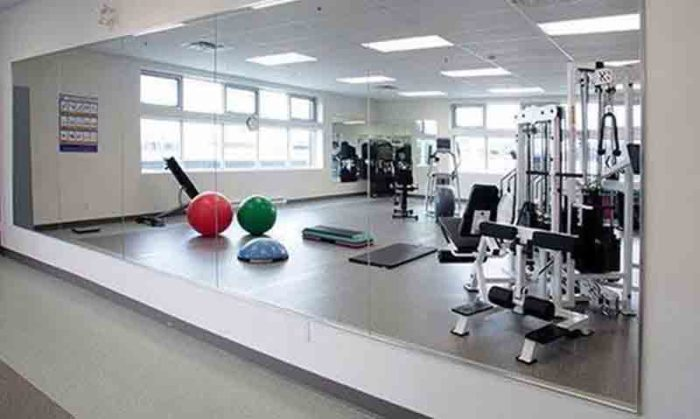 acrylic gym mirrors with frame