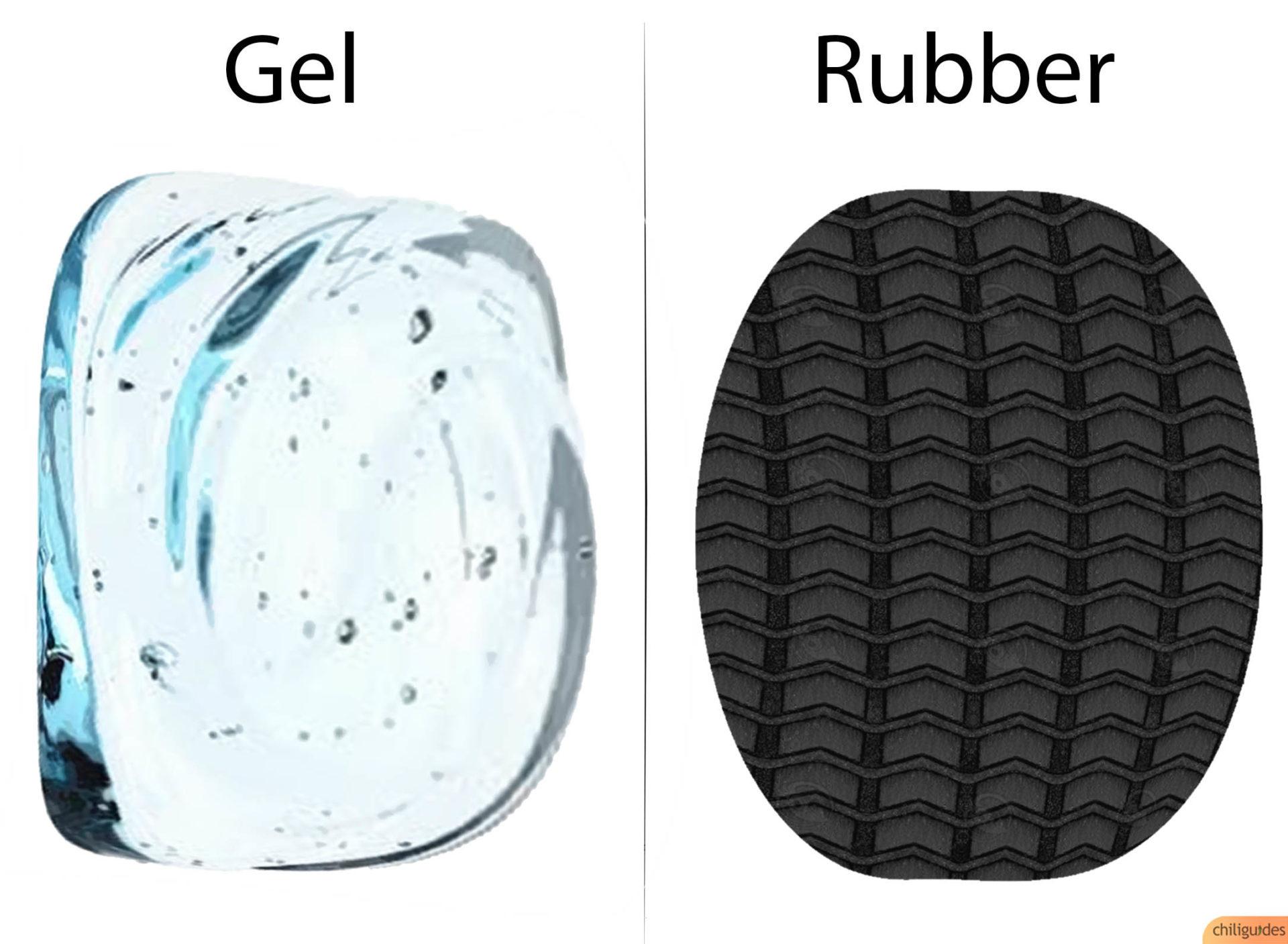 Gel vs. Rubber