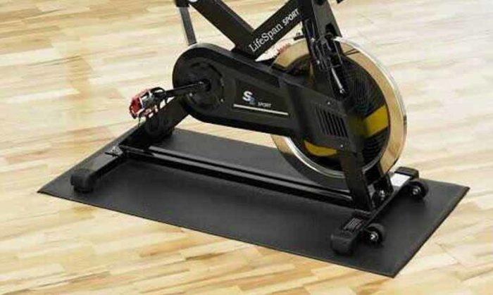 Bike mat for indoor exercise bike