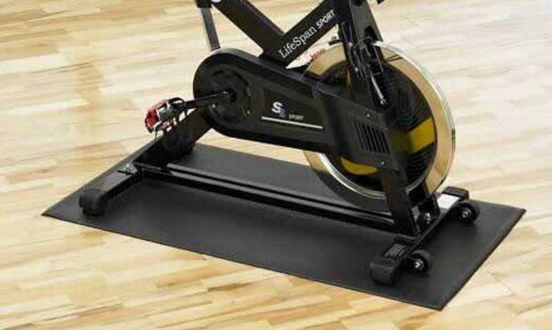 Bike mat for indoor exercise bike
