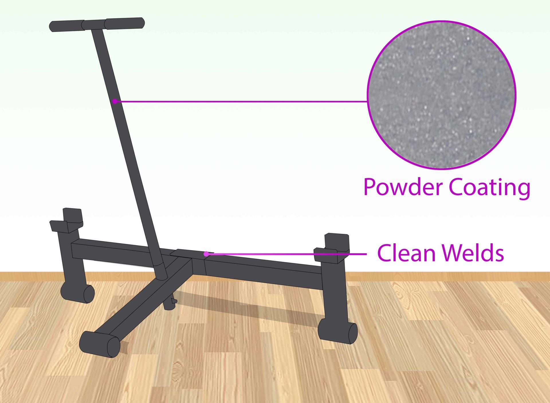 Inspect the construction quality for optimum functionality and barbell protection.