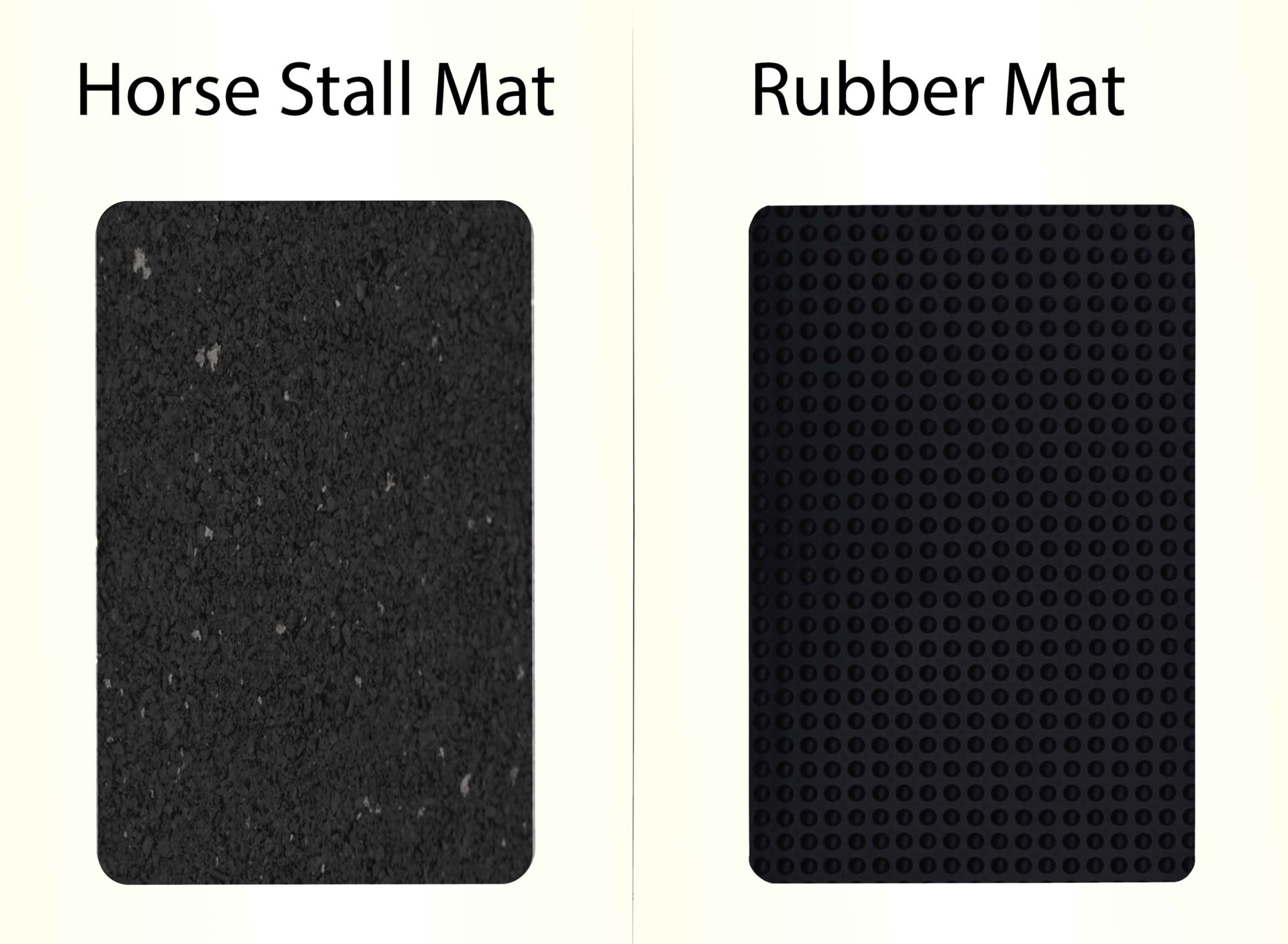 Choose rubber blend or horse stall mats depending on your budget.
