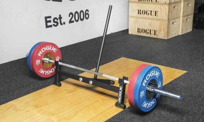 Rogue Deadlift jack with barbell