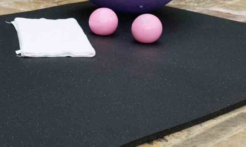 Rubber flooring mat for home gym