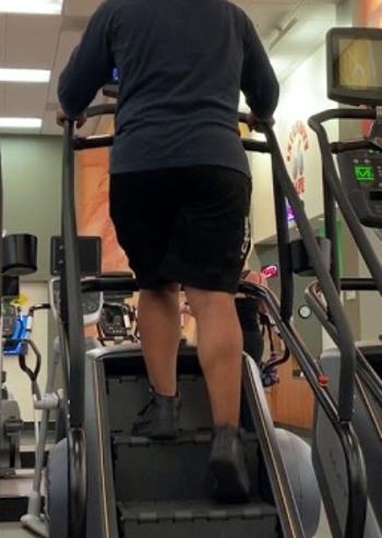 WALKING ON STAIRMASTER calf workout